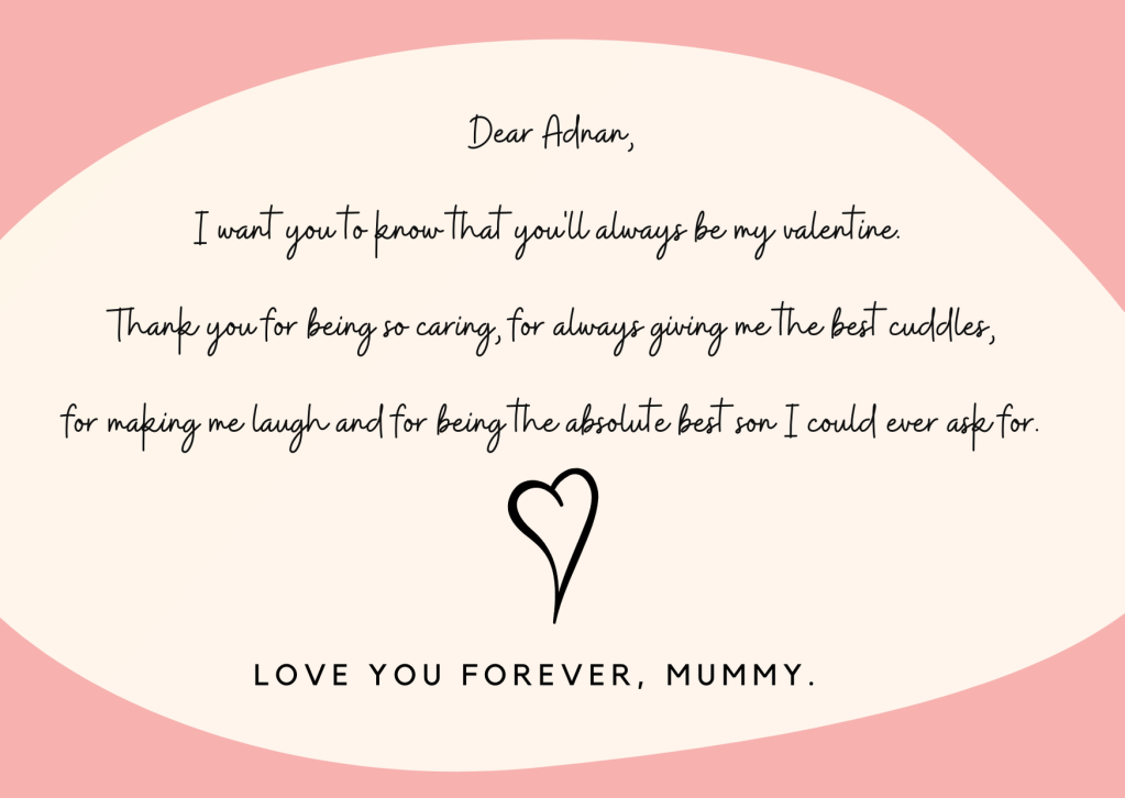 One of the letters my son will be getting tomorrow.